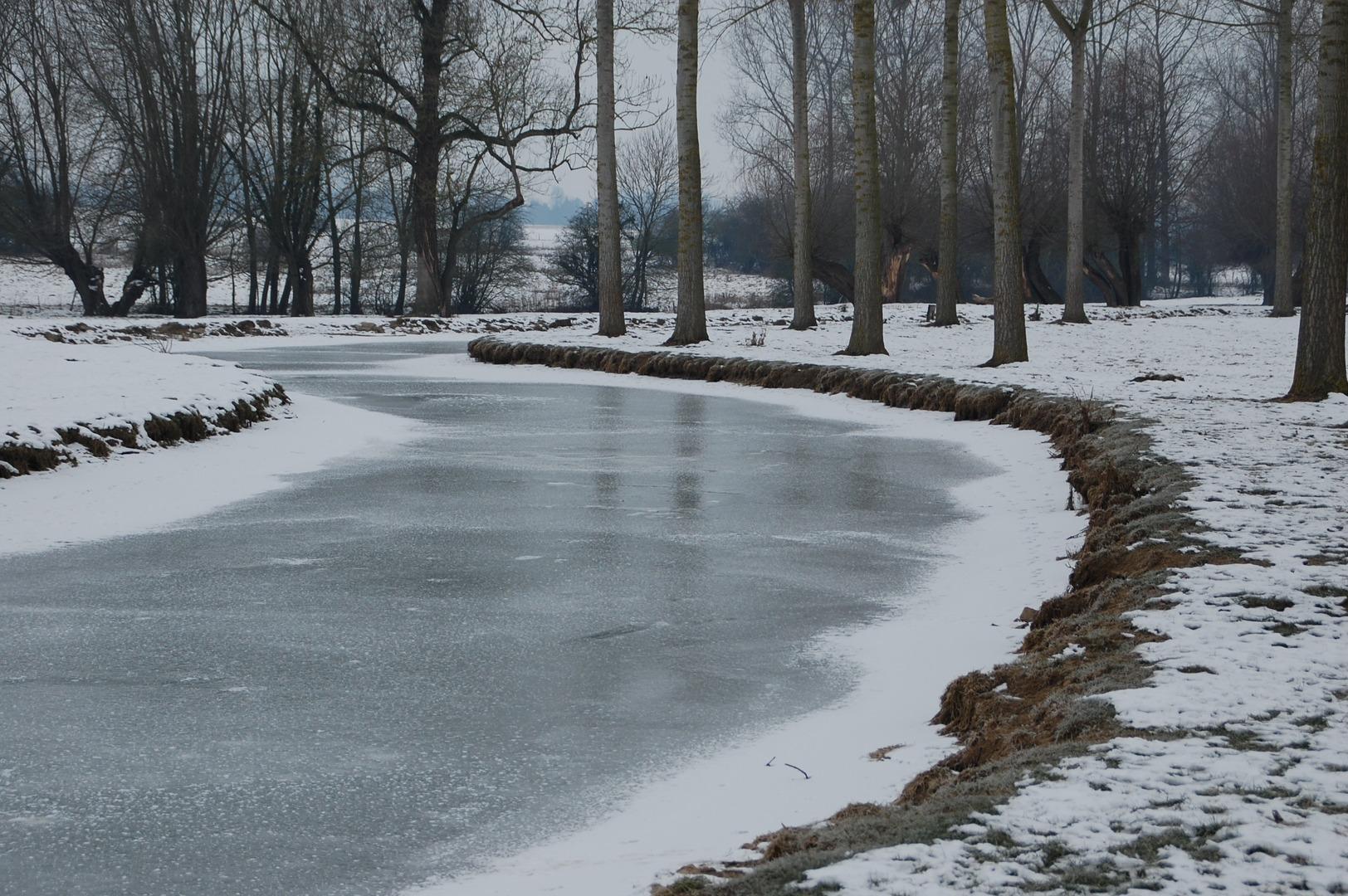 """картинка """"Замерзшая река"""" образ декабря 2017"""